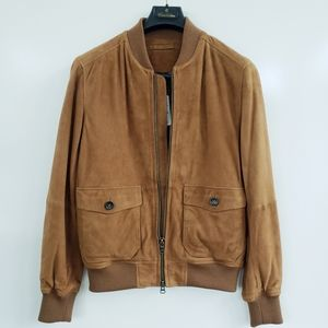 BROOKS BROTHERS Leather Aviator Jacket Size Men's Small
